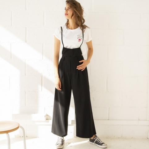 Pantalon Salopette Noir