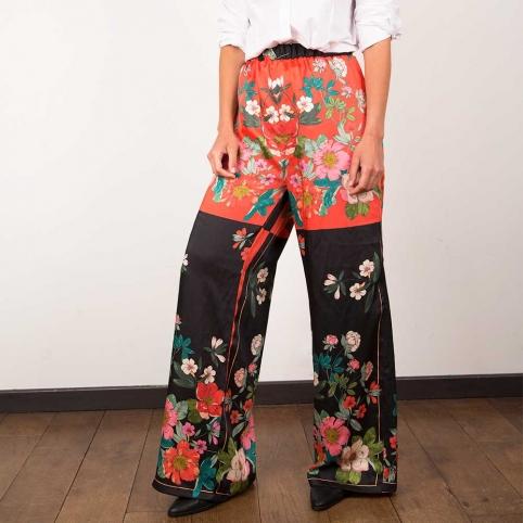 Pantalon Oscar fleuri
