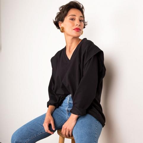 T-Shirt ML Monica Noir