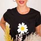 T-shirt Margherita noir