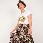T-Shirt Martina Gold Blanc
