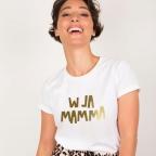 T-Shirt W La Mamma Gold