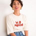 T-Shirt W La Mamma Crème