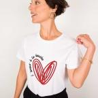 T-Shirt L'amour à la Bouche Blanc