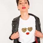 T-Shirt Lolita Léopard Blanc
