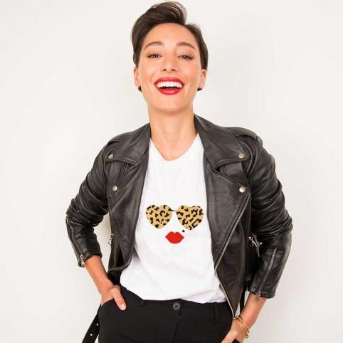 White T-Shirt Leopard Lolita