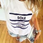White T-Shirt Sole Mare Vento