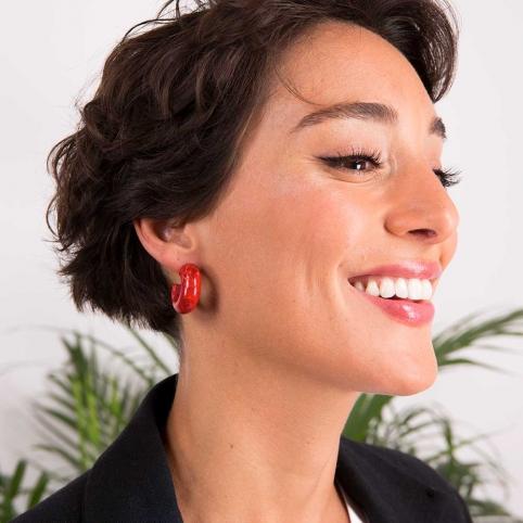 Red Earrings Elena