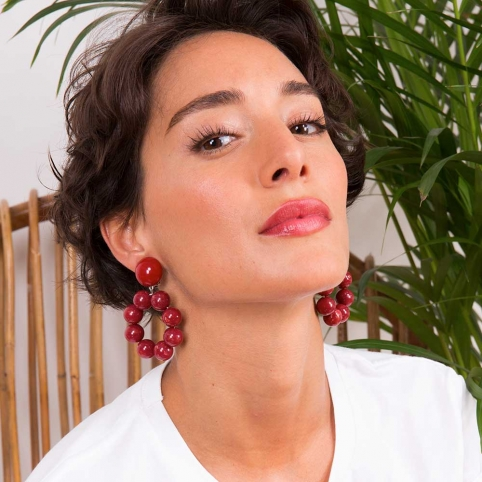 Red Earrings Camilla