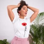 T-Shirt Papavero Blanc