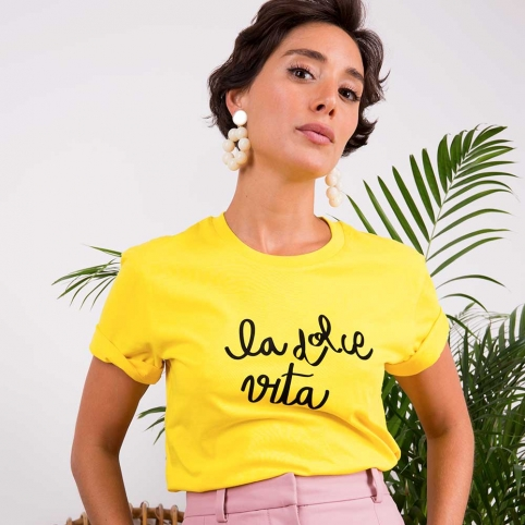 Yellow T-Shirt La Dolce Vita