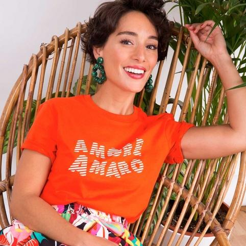T-Shirt Amore Amaro Orange