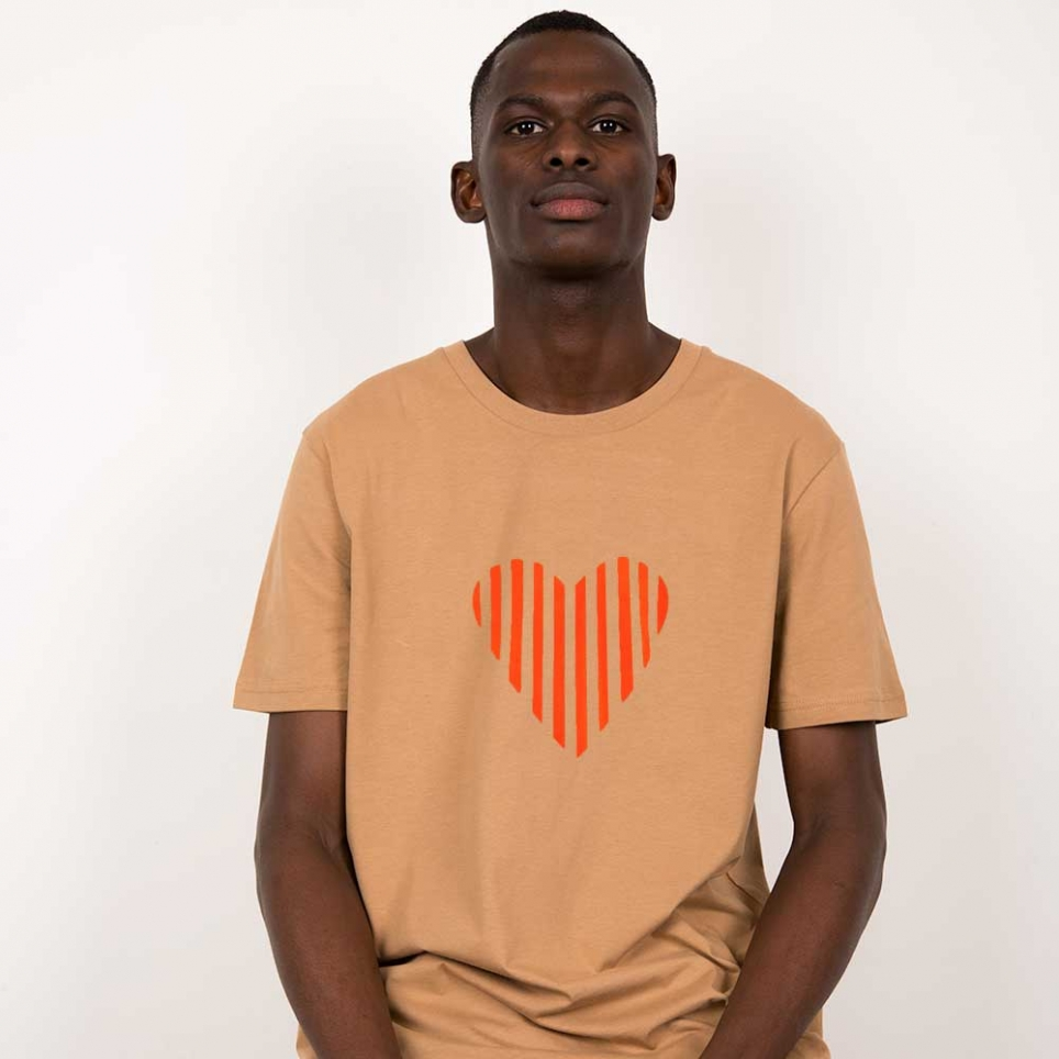 T-Shirt Lucio Camel Homme