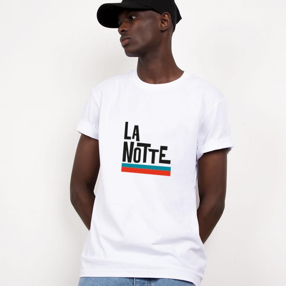 T-Shirt La Notte Blanc Homme