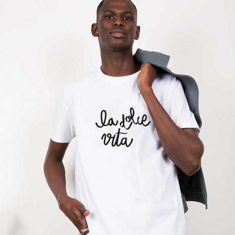 T-Shirt La Dolce Vita Blanc Homme