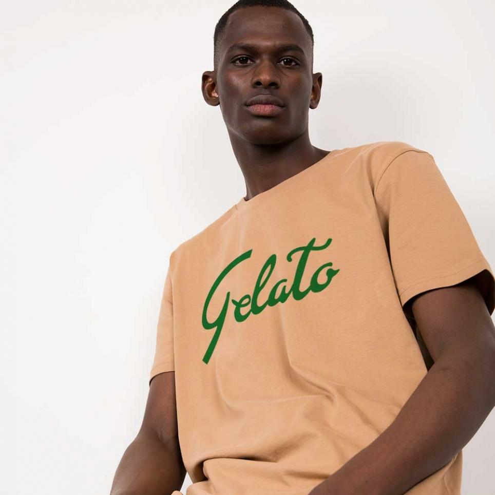 T-Shirt Gelato Camel Homme