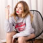 Bubble Gum sweatshirt in grey and red