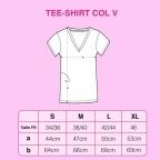 T-Shirt Col v Lucio Blanc