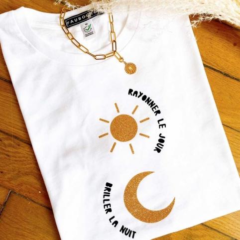 White T-shirt Sole Luna