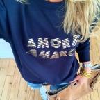 Sweat Amore Amaro Bleu by LesFutiles