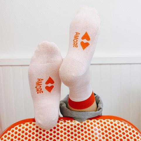 Pink Socks Bouche Coeur