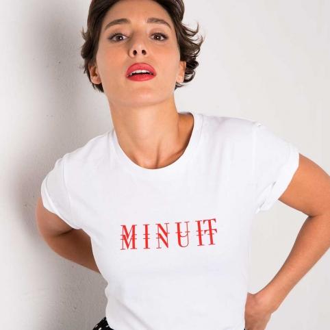 T-Shirt Minuit Blanc