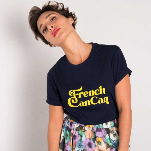 Blue T-Shirt French Cancan