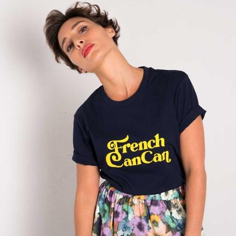 T-Shirt Bleu French Cancan