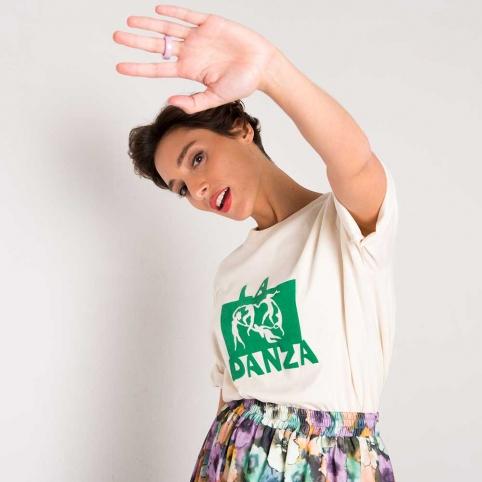 Cream T-Shirt La Danza