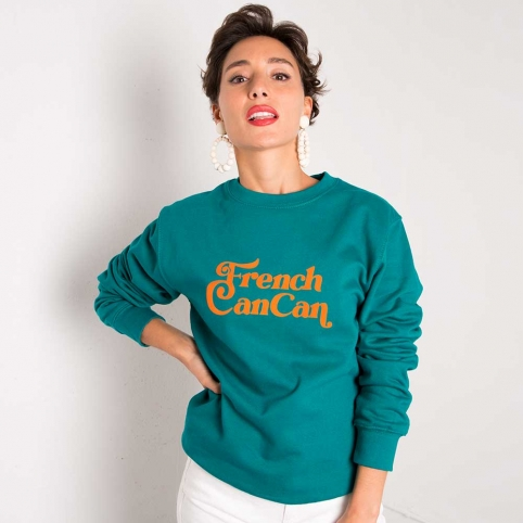 Green Sweatshirt French Can Can