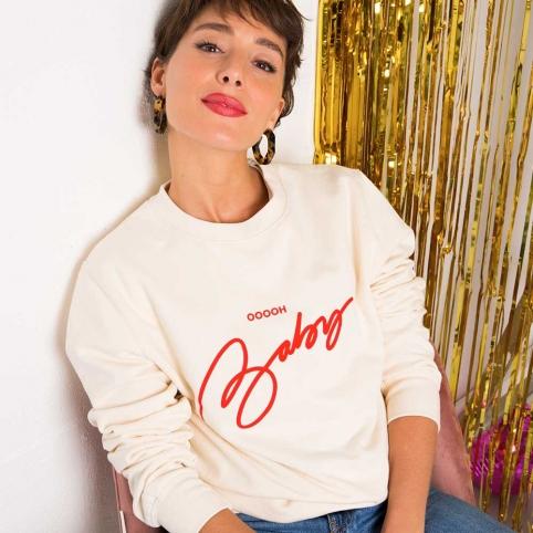 Cream Sweatshirt Baby