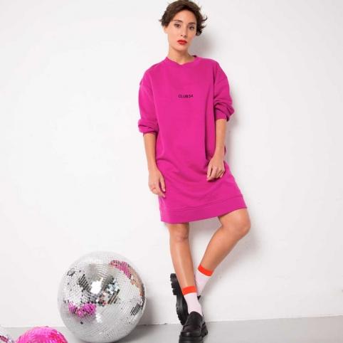 Cherry Sweatshirt Dress Club 54