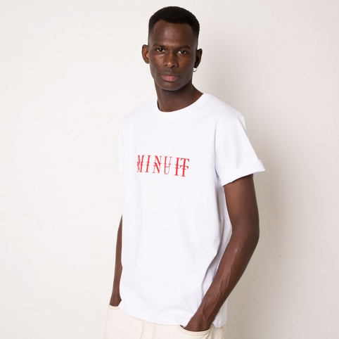 T-Shirt Minuit Blanc Homme