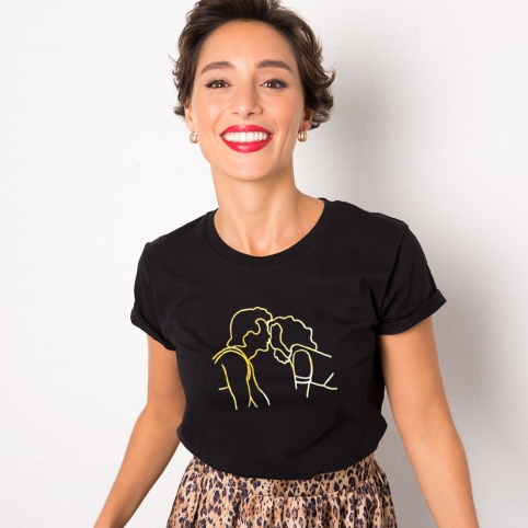 Black T-Shirt Kiss DD