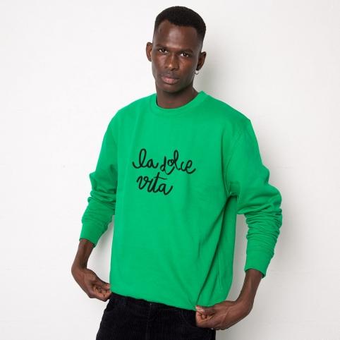 Green Sweatshirt La Dolce Vita
