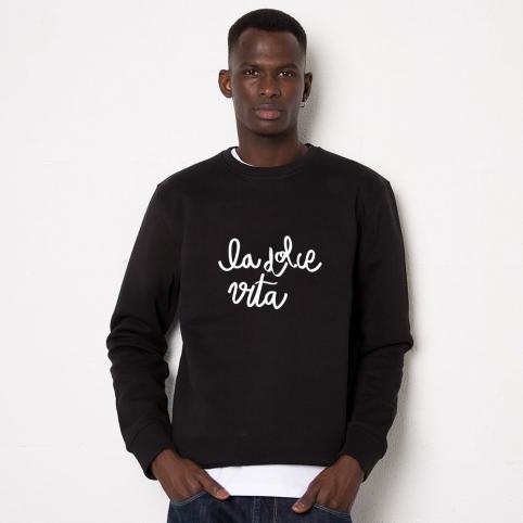 Black Sweatshirt La Dolce Vita